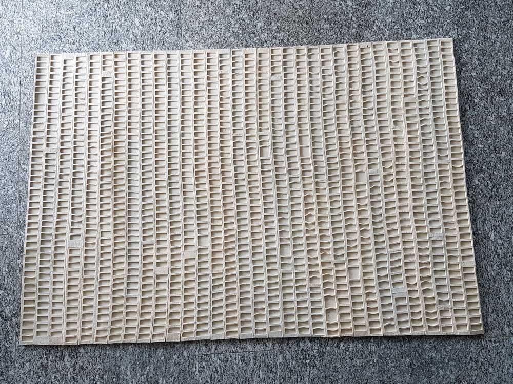 """Leiter"", wollweiß, Industriwollfilz 8 mm, 140 cm x 200 cm, 1200 €"