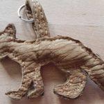Schlüsselanhänger: Fuchs, Leder, Maß: ca. 12 cm x 9 cm, 15 €